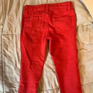 Cat and Jack Red Denim Jeans